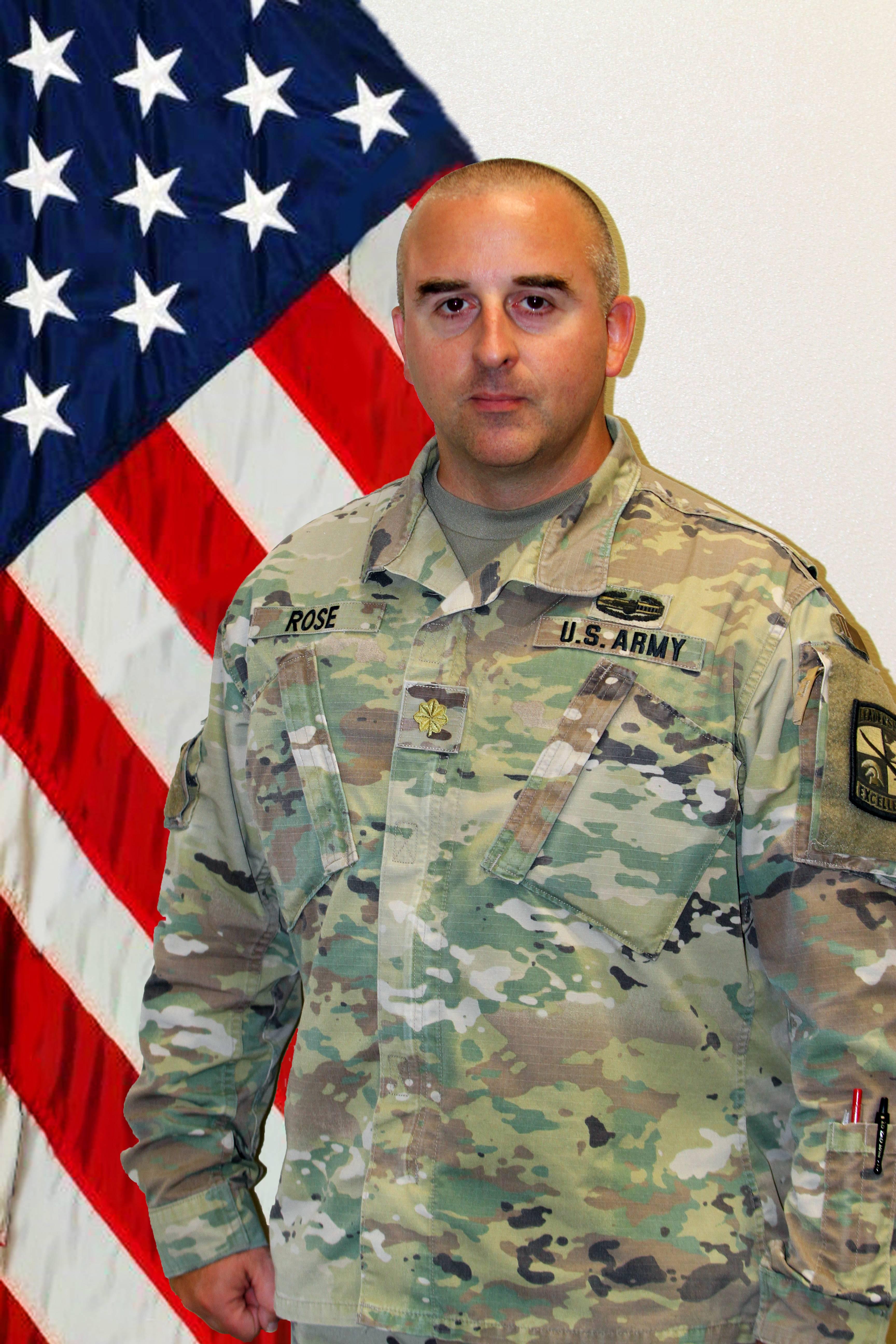 MAJ Kristopher Rose, S3/Assistant Professor of Military Science